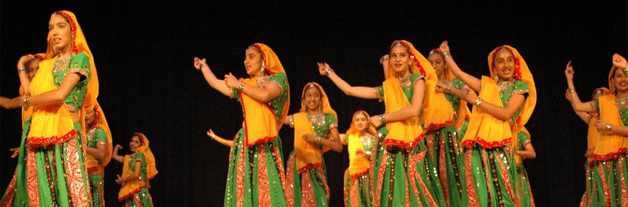 A traditional Gujarati Folk Dance was performed by this Indian Dance Troupe.